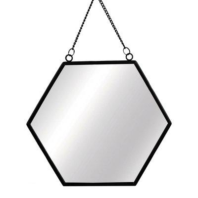 Spiegel | zwart | rechthoekig