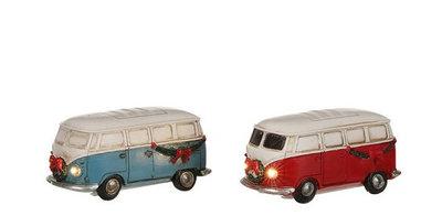 VW BUS met licht Blauw of Rood