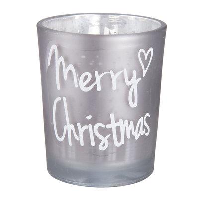 Kerst Theelichthouder Silver