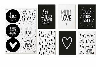 Kerst Cadeaukaartjes en stickers ZOEDT
