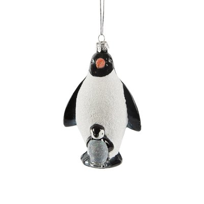 Kerstbal Pinguïn & Baby