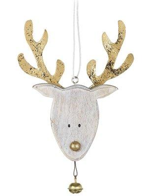 Kerst-hanger | Rendier met belletje