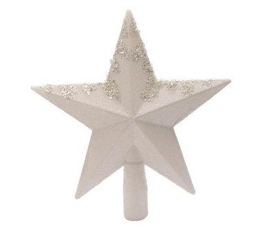 Piek kunststof ster met glitter 19cm