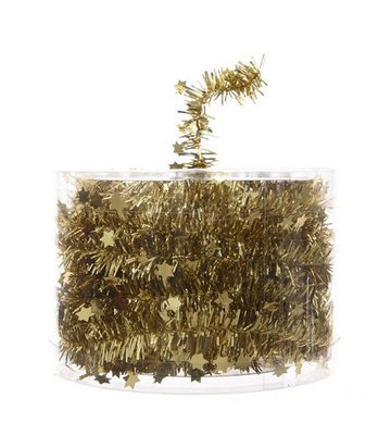 Kerstboom slinger  7 meter goud
