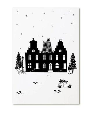 Kerstkaart Huisjes Zoedt