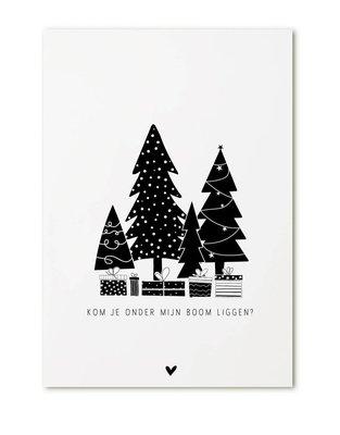 Kerstkaart Kom je onder mijn boom liggen? Zoedt