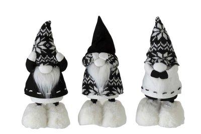 Horen/Zien/Zwijgen Kabouters Zwart Textiel J-LINE