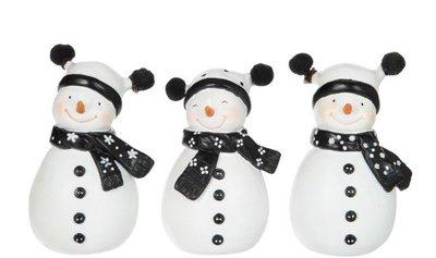 Sneeuwpop Zwart Wit 3 ass. J-Line