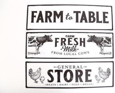 Tekstbord Boerderij Koe/Kip/Farm