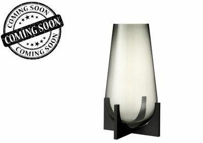 Vaas Conisch Op Voet Glas/Metaal Grijs/Zwart S / J LINE