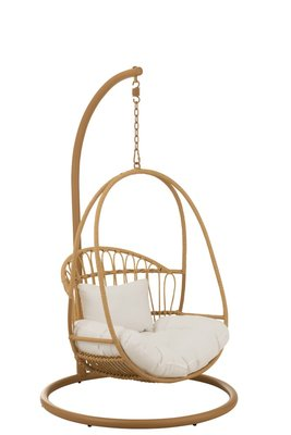Hangstoel Kind Cosy Staal Naturel / J-LINE