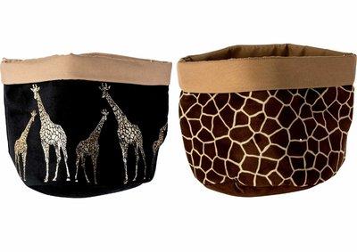 Mand Zak Giraffe set 2 stuks Bruin