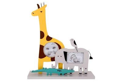 Fotolijst en decoratie Giraffe Geel