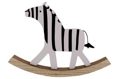 Schommel decoratie Zebra-hout