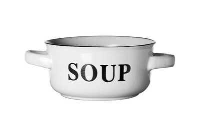 Soepkom Soup set 6 Wit Retro