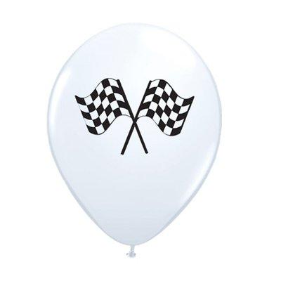 Ballonnen Grand Prix zwart wit