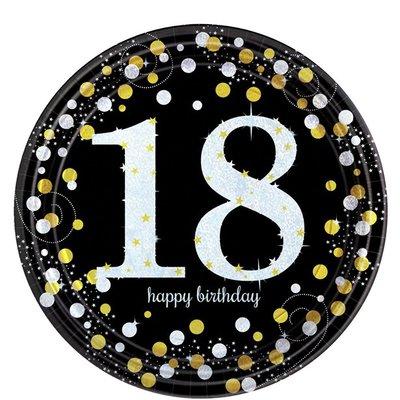 Bordjes 18 jaar Happy Birthday