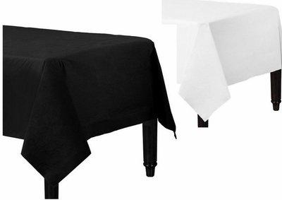 Tafelkleed Wit of Zwart Tissue/plastic