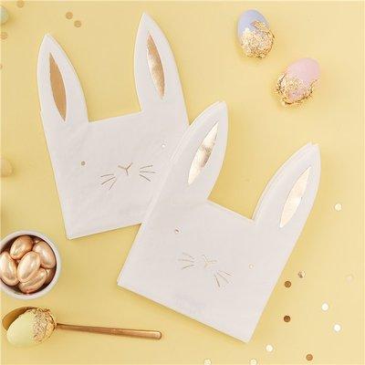 Servetten Pasen Bunny 16 x
