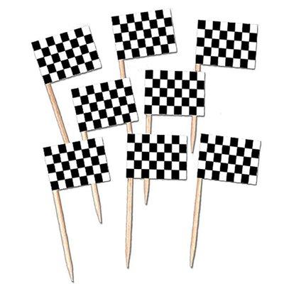 "Cocktailprikkers ""Racing Flag"" 50 stuks"