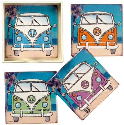 Onderzetters VW Bus Keramiek S/4