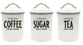 Voorraadbussen Koffie-Thee-Suiker Emaille Look