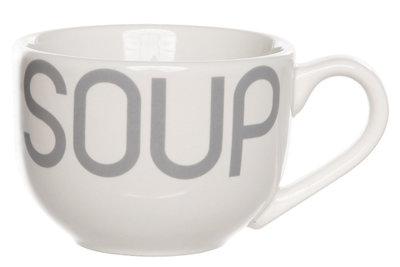 Soepkom Soup set 6 Wit/Grijs