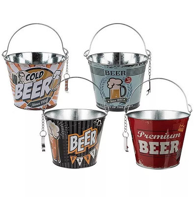 Bier (koel) emmer met opener