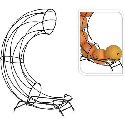Fruitmand | zwart draadstaal staand