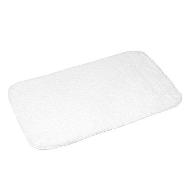 Badmat extra zacht wit 50x80cm