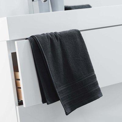 Handdoek 50x90 cm zwart katoen 2 stuks €14,00