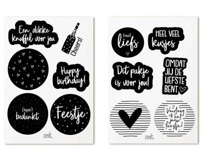 Cadeaukaartjes + Stickers Set