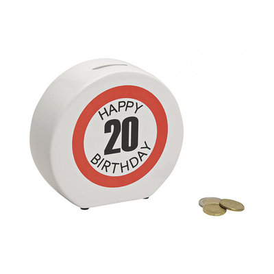 Spaarpot Happy Birthday 20