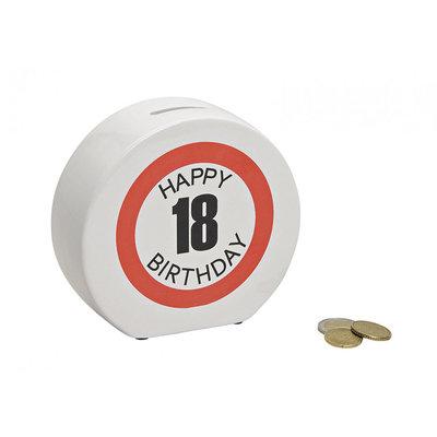 Spaarpot Happy Birthday 18