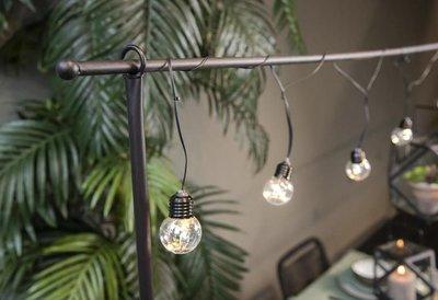 Tafelklem zwart metaal Incl. lichtsnoer met 10 LEDlampen