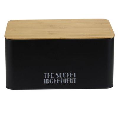 Broodtrommel 32x21x16 cm zwart Secret Ingredient