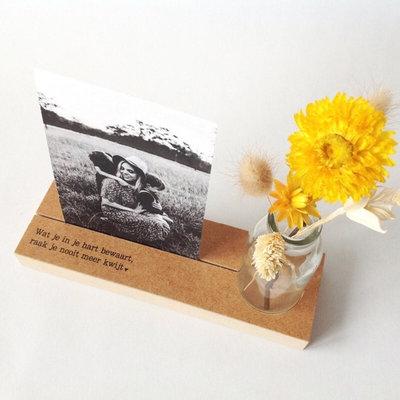 Memory shelf Fotohouder/vaasje,  Koester je herinneringen, draag ze mee in je hart