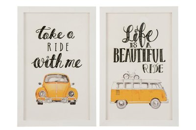 Tekstbord VW wit/oker Ride 65,8 cm