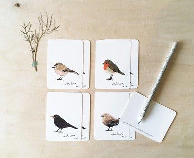 Mini cards Birds (set 8)