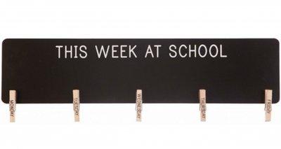 Krijtbord schoolweek