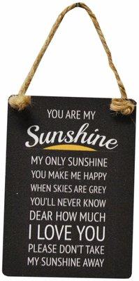 Tekstbord | metaal Sunshine