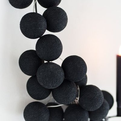 Cotton Ball Lights | Zwart | Wit | 10 stuks