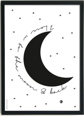 Poster|2 in 1|Love you to the Moon|Sleep