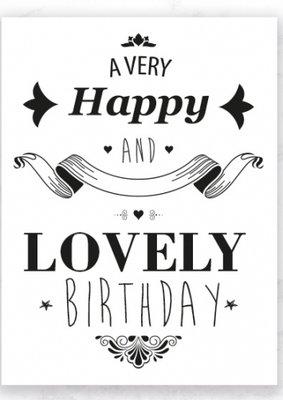 Kaart Happy Birthday