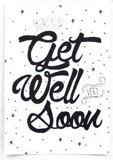 Kaart Get well soon