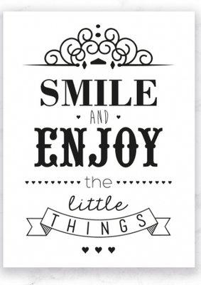 Kaart Smile and enjoy