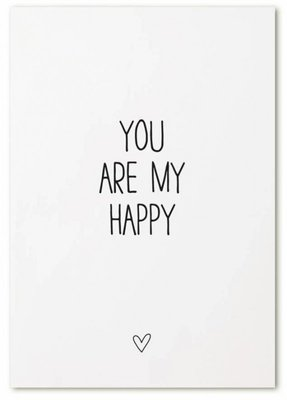 """Kaart """"You are my Happy"""""""