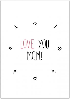 Kaart | Love you Mom!