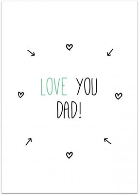 Kaart | Love you Dad!