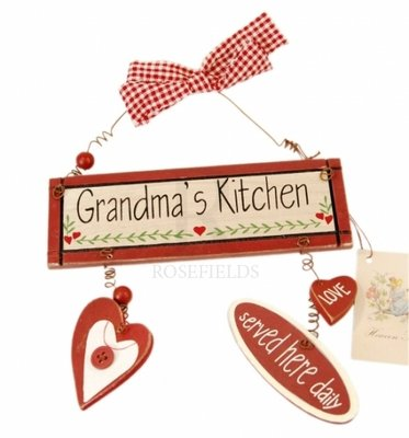 Tekstbordje | Vintage | Grandma's kitchen
